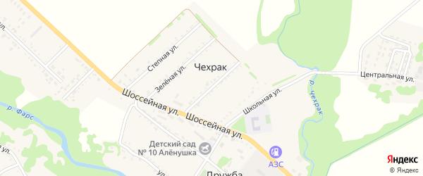 Майская улица на карте поселка Чехрака Адыгеи с номерами домов