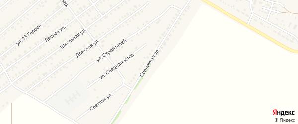 Солнечная улица на карте Тарасовского поселка Ростовской области с номерами домов