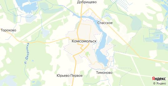 Карта Комсомольска с улицами и домами подробная. Показать со спутника номера домов онлайн