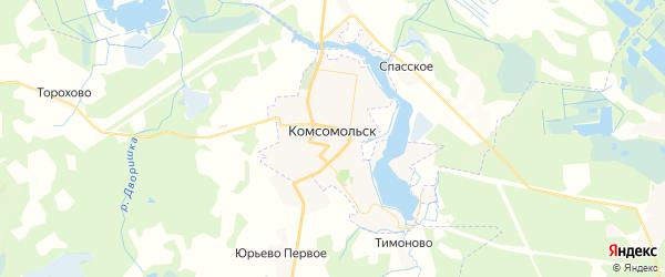 Карта Комсомольска с районами, улицами и номерами домов