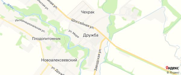 Карта поселка Дружбы в Адыгее с улицами и номерами домов