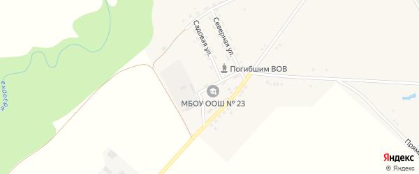 Школьная улица на карте Трехречного поселка Адыгеи с номерами домов