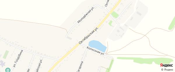 Октябрьская улица на карте Мальчевской станицы Ростовской области с номерами домов