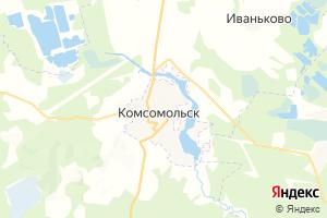 Карта г. Комсомольск Ивановская область