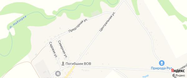 Центральная улица на карте садового некоммерческого товарищества Нефтяника Адыгеи с номерами домов