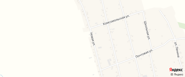 Новая улица на карте аула Егерухай Адыгеи с номерами домов