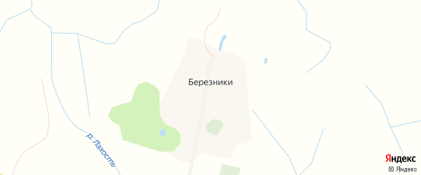 Карта села Березников в Ивановской области с улицами и номерами домов