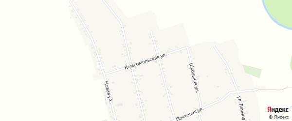 Комсомольская улица на карте аула Егерухай Адыгеи с номерами домов