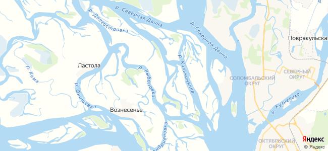 Осинник на карте