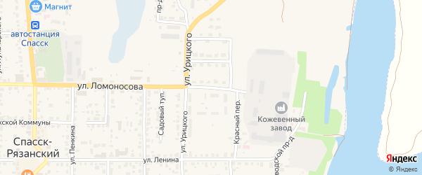 Улица Рабочий поселок на карте Спасска-Рязанского с номерами домов