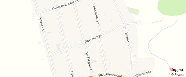 Почтовая улица на карте аула Егерухай Адыгеи с номерами домов