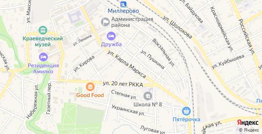 Улица Карла Маркса в Миллерово с номерами домов на карте. Спутник и схема онлайн