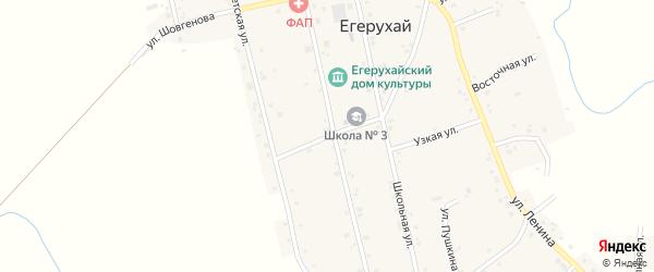 Пионерская улица на карте аула Егерухай Адыгеи с номерами домов