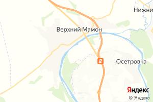 Карта с. Верхний Мамон Воронежская область