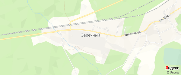 Карта Заречного поселка в Архангельской области с улицами и номерами домов