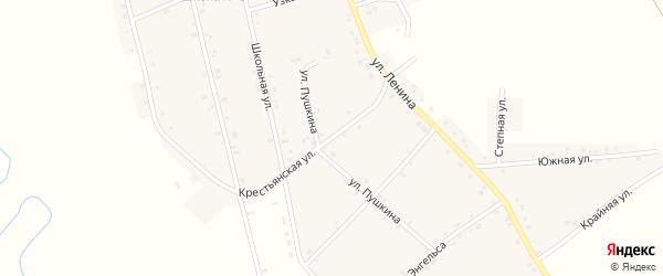 Крестьянская улица на карте аула Егерухай Адыгеи с номерами домов