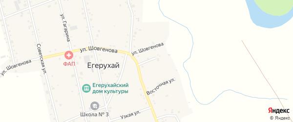 Переулок Парижской Коммуны на карте аула Егерухай Адыгеи с номерами домов