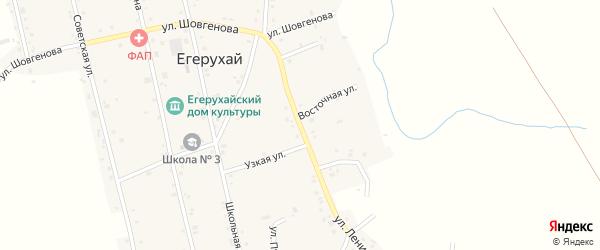 Улица Ленина на карте аула Егерухай Адыгеи с номерами домов
