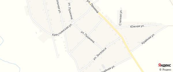 Улица Жуковского на карте аула Егерухай Адыгеи с номерами домов