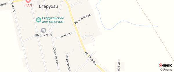 Улица Тургенева на карте аула Егерухай Адыгеи с номерами домов