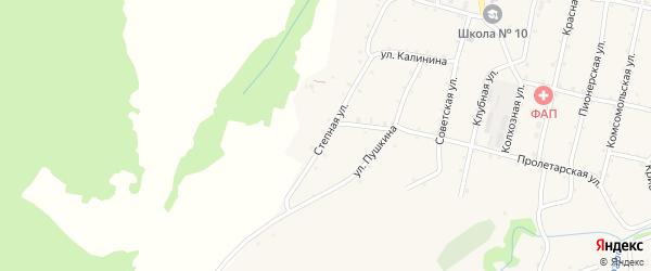 Степная улица на карте Новосвободной станицы Адыгеи с номерами домов