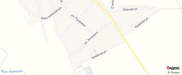 Улица Энгельса на карте аула Егерухай с номерами домов