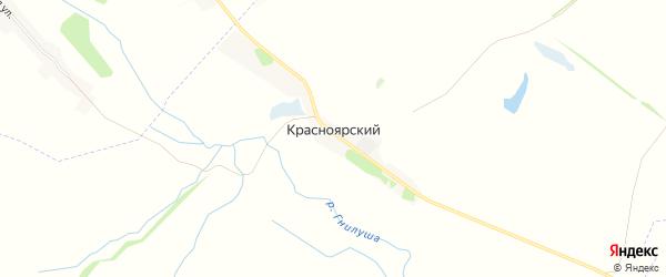 Карта Красноярского хутора в Воронежской области с улицами и номерами домов
