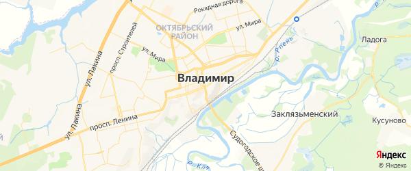 Карта Владимира с районами, улицами и номерами домов