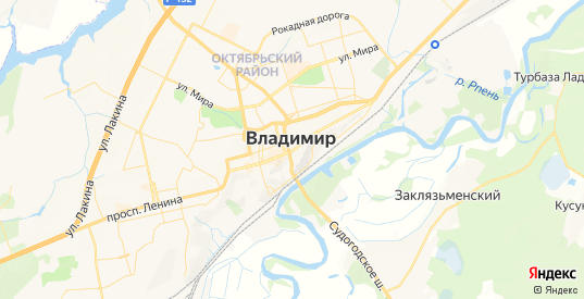 Карта Владимира с улицами и домами подробная. Показать со спутника номера домов онлайн