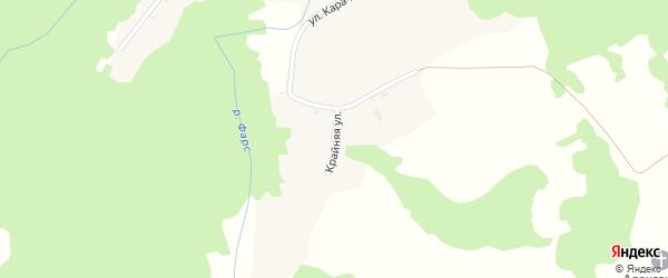Крайняя улица на карте Новосвободной станицы Адыгеи с номерами домов