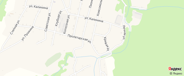 Комсомольская улица на карте Новосвободной станицы Адыгеи с номерами домов