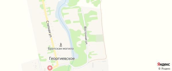 Восточная улица на карте Георгиевского села Адыгеи с номерами домов