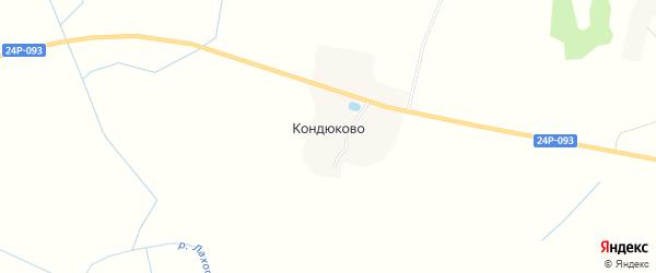 Карта деревни Кондюково в Ивановской области с улицами и номерами домов