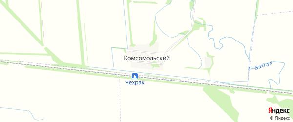 Карта Комсомольского поселка в Адыгее с улицами и номерами домов