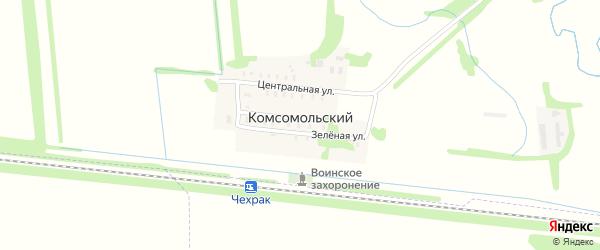 Широкая 2-я улица на карте Комсомольского поселка с номерами домов