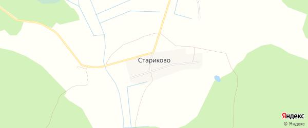 Карта деревни Стариково в Владимирской области с улицами и номерами домов