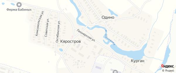 Пионерская улица на карте Архангельска с номерами домов