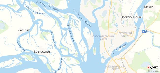 Пески на карте