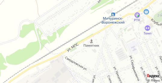 Улица МПС в Мичуринске с номерами домов на карте. Спутник и схема онлайн