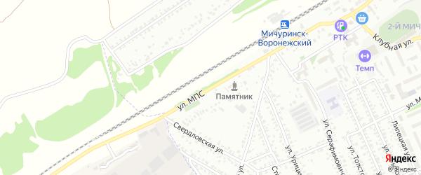 Улица МПС на карте Мичуринска с номерами домов