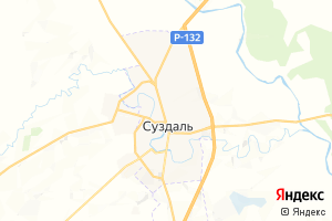 Карта г. Суздаль Владимирская область