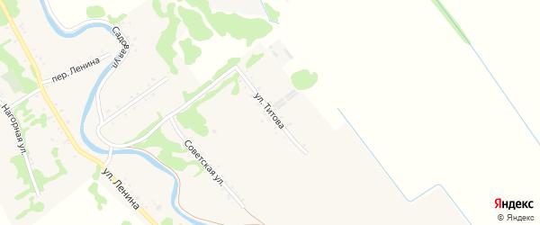 Улица Титова на карте Игнатьевского хутора Адыгеи с номерами домов