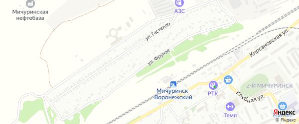 Улица Фрунзе на карте Мичуринска с номерами домов