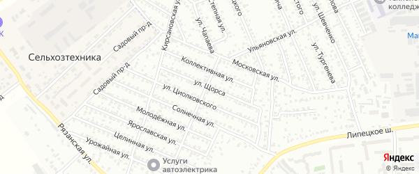 Улица Щорса на карте Мичуринска с номерами домов