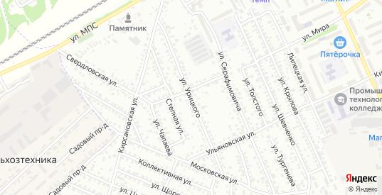 Улица Урицкого в Мичуринске с номерами домов на карте. Спутник и схема онлайн