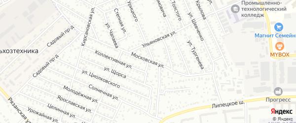 Московская улица на карте Мичуринска с номерами домов