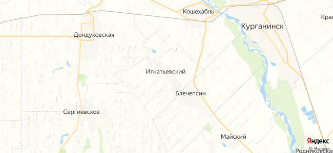 Игнатьевский на карте