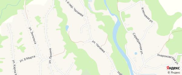 Улица Чапаева на карте Северного хутора Краснодарского края с номерами домов