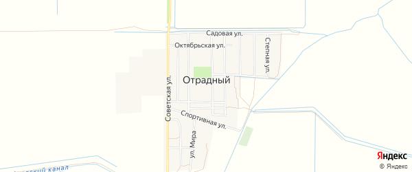 Карта Отрадного поселка в Ростовской области с улицами и номерами домов