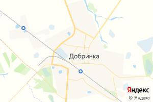 Карта пгт Добринка Липецкая область